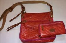 Fossil Crossbody Key Per Bag Purse + Wallet LOT