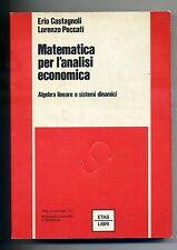 Castagnoli-Peccati#MATEMATICA PER L'ANALISI ECONOMICA#ETAS Libri 1979 1A ED.
