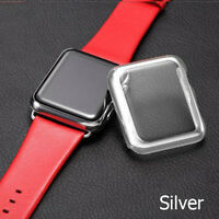 Apple Watch 1/2/3 38/42mm Full Body Metal Case Cover & Glass Screen Protector