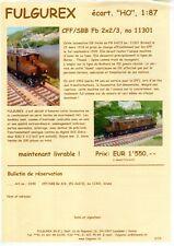 catalogo FULGUREX 2010 Infoblatt SBB/CFF Fb x/3 11301 HO 1:87      D F       aa