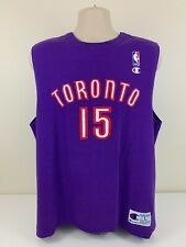 VTG Toronto Raptors Vince Carter Champion Purple Tank Top Jersey Shirt Men's L