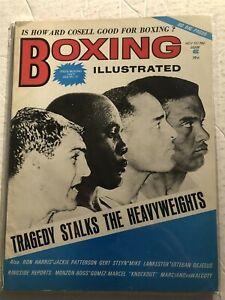 1972 Boxing Illustrated ROCKY MARCIANO Sonny LISTON Zoro FOLLY Eddie MANCHEN
