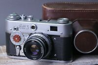FED-3 vintage Soviet 35 mm RF Camera with INDUSTAR 61 2.8/53 lens / Modified.