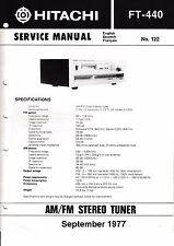 MANUEL DE REPARATION POUR Hitachi ft-440