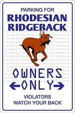 Metal Sign Parking For Rhodesian Ridgeback 8� x 12� Aluminum Ns 461