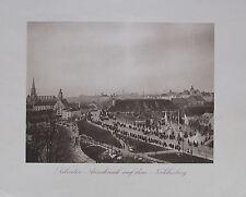München um 1909 SALVATOR AUSSCHANK - ISARTAL ALPEN 2 Fotos Kupferdruck Photo