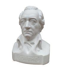 Goethe Büste 20 cm Figur aus weißem Gips, Dichter Denker, Klassisch