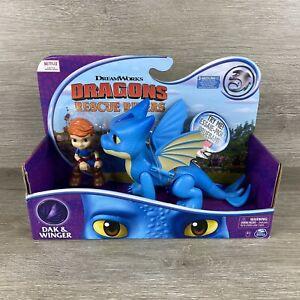 Dreamworks Dragons Rescue Riders Dak & Winger Dragon Viking Figures Sounds New