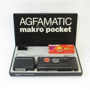 Agfamatic Makro Pocket 6008 Sub-Mini Camera & LUX 560 Flash in Box (untested)
