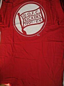 RARITÄT !  T-shirt Kickers Offenbach gedruckt  Gr. XXL Fussball