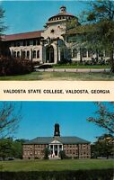 VALDOSTA GEORGIA VALDOSTA STATE COLLEGE~ADMIN BLDG~NORTH CAMPUS POSTCARD 1960s