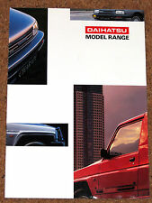1992-94 DAIHATSU RANGE Sales Brochure - Sportrak Fourtrak Charade Applause