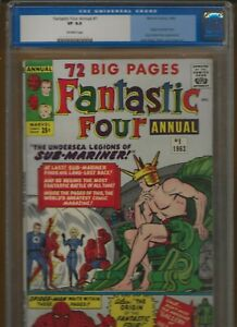 Fantastic Four Annual 1 CGC 8.0 VF Key 4th Appearance of Spider-Man Kirby 1963