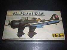 """HELLER P.Z.L P-23 A ET B """"karas""""  PLASTIC MODEL 1/72"""