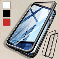 Magnetic Phone Case Tempered Glass Cover For Samsung S7 S8 S9 S10+ Plus Note 8
