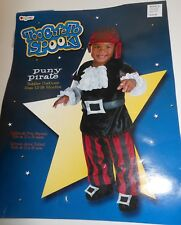 Size 12 -18 Months Puny Pirate Captain Caribbean Halloween Toddler Child Costume