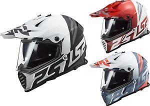 LS2 MX436 Pioneer Evo Evolve Enduro Helmet Motorcycle with Sun Visor off Road
