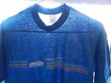 vtg Penn State T Shirt 70s 80s blue THIN M/L Nittany Lions 50/50 Velva Sheen USA