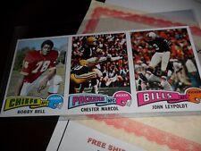 1975 Topps Football Uncut Strip Sheet Proof Packers Bills Chiefs Mint (CALJEFF)