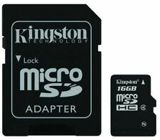 16GB KINGSTON MICRO SD SDHC MEMORY CARD + SD ADAPTER FOR PHONE TABLET CAMERA