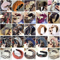 Womens Headband Twist Hairband Bow Knot Cross Tie Headwrap Hair Band Hoop Lot