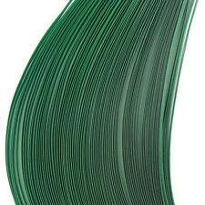 200 quilling self adhesive paper strips in forest green - 5mm  wide
