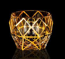 Whiskey Glasses Diamond Phnom Scotch  Tilted Cognac Snifter Elegant Glass 11 Oz