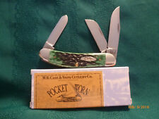 Case XX 2013 3-Bladed Bermuda Green Sowbelly Knife - Mint in Box