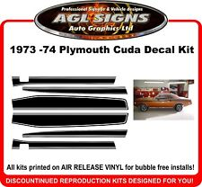 1973 1974  Plymouth Barracuda Reproduction Stripe Kit   Cuda