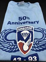 Vintage Army 50th Anniversary AIRBORNE Nashville TN Shirt XL Blue
