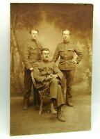 c 1910 Italian ? Soldiers RPPC Sepia Tint Real Photo Postcard Studio