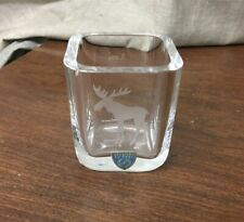 """Orrefors Moose 2-1/4"""" Toothpick Holder/Vase"""