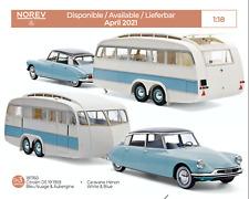 1/18 Norev Citroen DS 19 1959 Bleu Caravane Hénon Livraison Domicile Avril/Mai