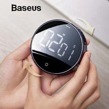 Baseus Magnetic LCD Digital Kitchen Timer Mechanical Gym Countdown Alarm Clock