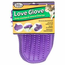 """Lm Four Paws Love Glove Grooming Mitt for Cats One Size Fits All - (9""""L x 6.75""""W"""