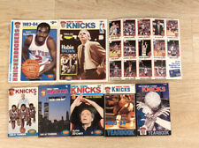 New York Knicks Year Book Lot 1980-1985, 2 Knickerbockers Magazines + Cards