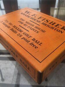 MAXIM BOX AND MAXIM MESH GOLF BALL, CIRCA 1920's, COLLECTABLE.