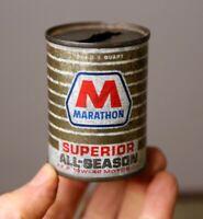 Vintage Original MARATHON V.E.P. Oil Can Coin Bank Tin Promo advertising GAS OIL