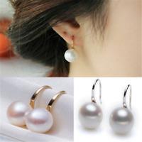 Fashion 1 Pair Women Lady Elegant Pearl Crystal Rhinestone Ear Stud Earring Chic