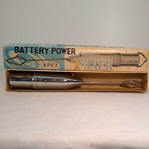 Vintage Apex Battery Power Chrome Mixer Cocktail Bar/Kitchen Tool Nice!