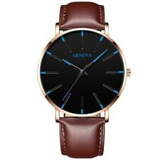 Minimalist Men Fashion Ultra Thin Watches Simple Men Business Stainless Steel Me