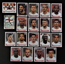 Panini FIFA World Cup South Africa 2010 Complete Team England + Foil Badge