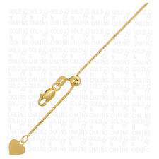 14k Yellow Gold Italian Adjust Snake Chain Link Necklace Mens Womens 20 inch