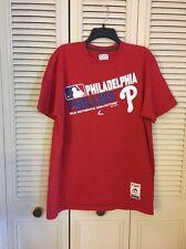 Philadelphia Phillies Shirt Authentic Majestic Triple Peak Soft Feel NWOT Sz M