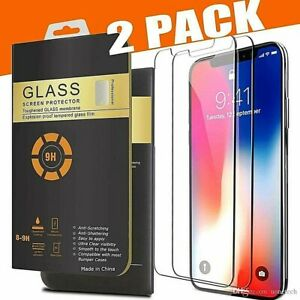 Tempered Glass Screen Protector For iPhone 11 Pro Max iPhone XR X XS Max + Case