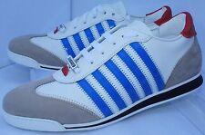 New Dsquared2 Mens Shoes White Sneakers Size 44 New Runnr Tennis Vitello Fashion