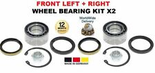 FOR SUBARU JUSTY HATCHBACK 1995-2003 NEW FRONT LEFT + RIGHT WHEEL BEARING KIT X2