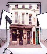 Streetside Store Building Photography Backgrounds 5x7ft Vinyl HD Photo Backdrops