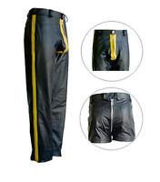 Awanstar Neue lederhose mit streife +Heck RV Gay leder hose,leather trousers 34W