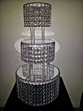 1 METRE CRYSTAL CLEAR GARLAND WEDDING CAKE STAND DECORATIONS